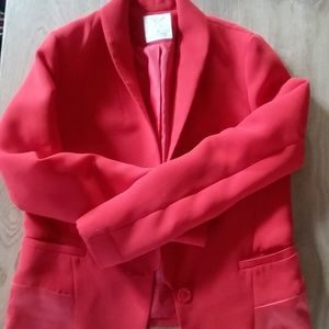 UO Pins and Needles Red Blazer